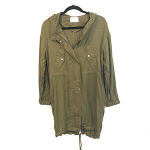 Love Tree S Long Hooded Lightweight Green Military
